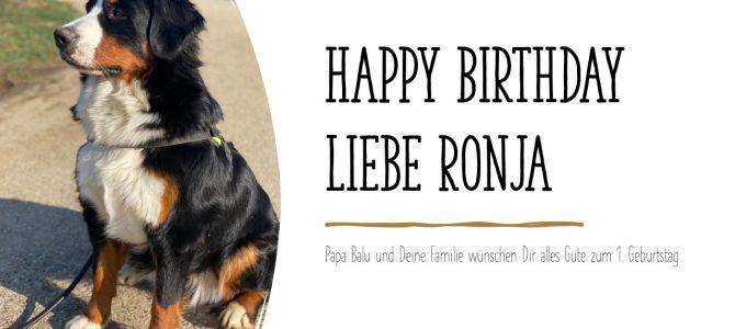Ronja 1. Geburtstag
